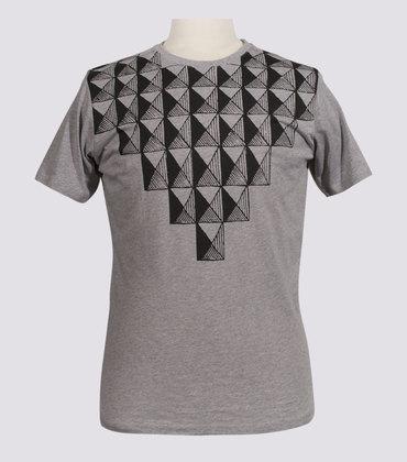 Tee-shirt Plastron - Marl grey