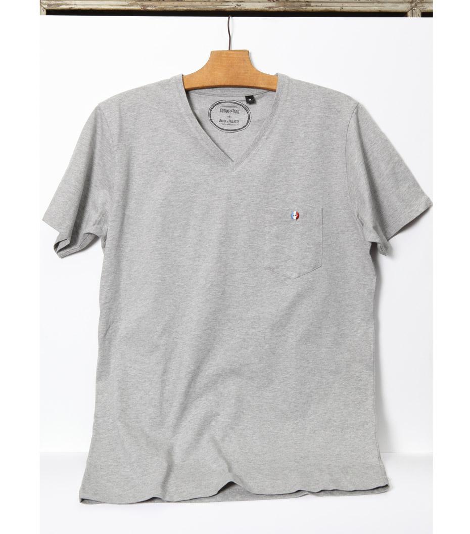 Tee-shirt Villatte - Gris chiné
