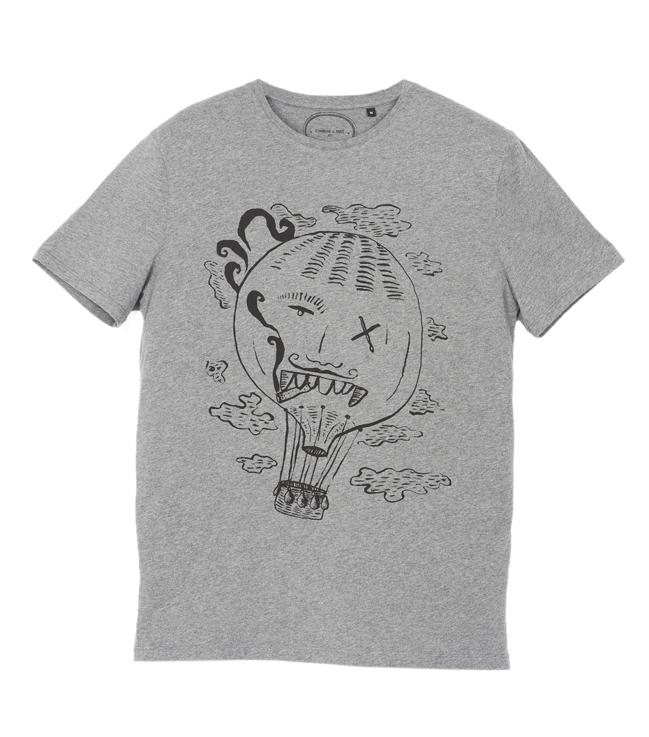 Tee-shirt Totoche - Gris chiné