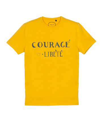 Tee-shirt Courage - Yellow