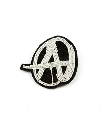 Broche Anarchie - Argent