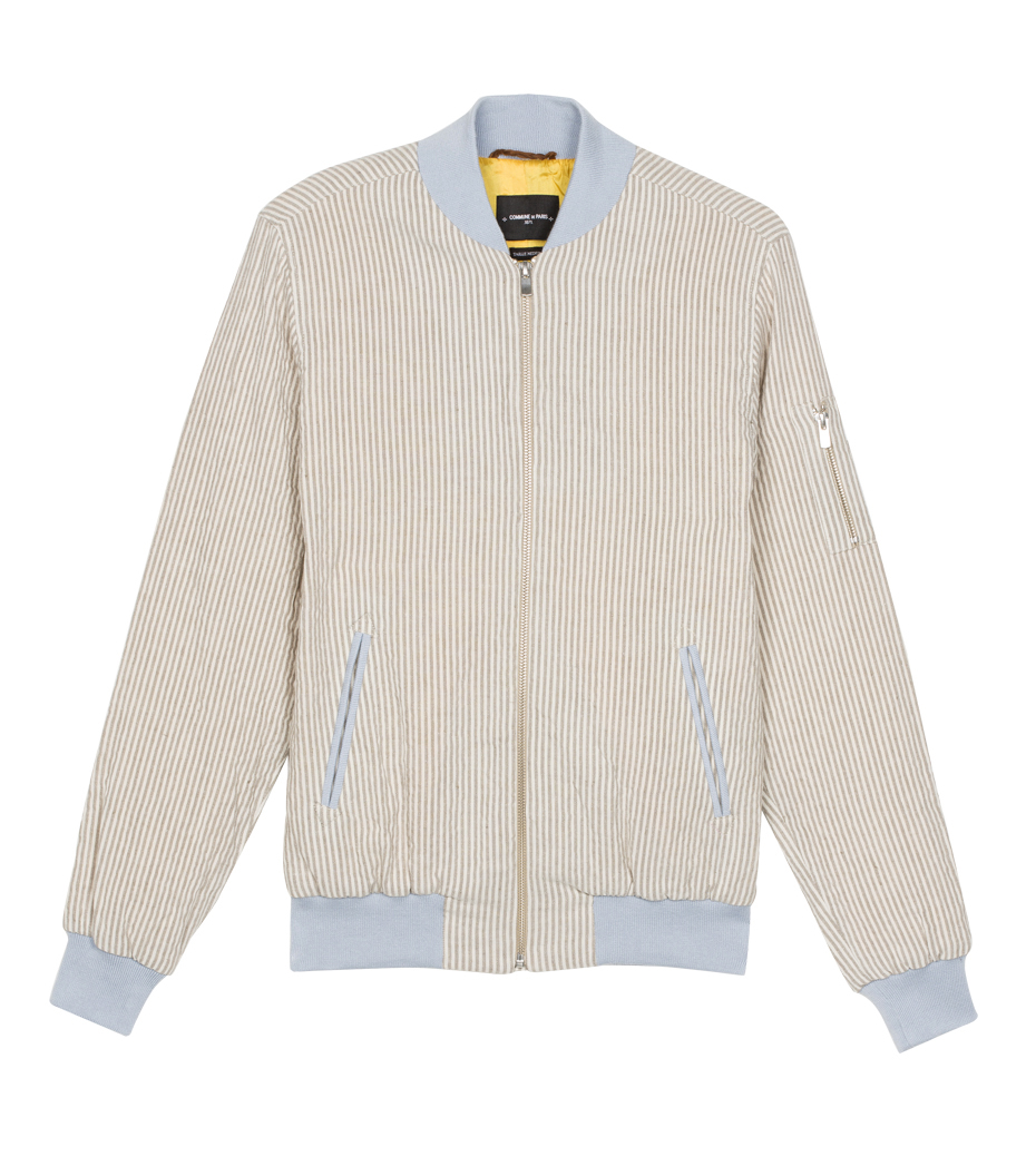 Jacket Anatole 02 - White/camel stripes