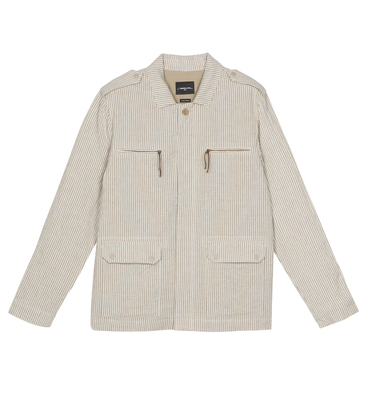 Jacket Military - White/camel stripes