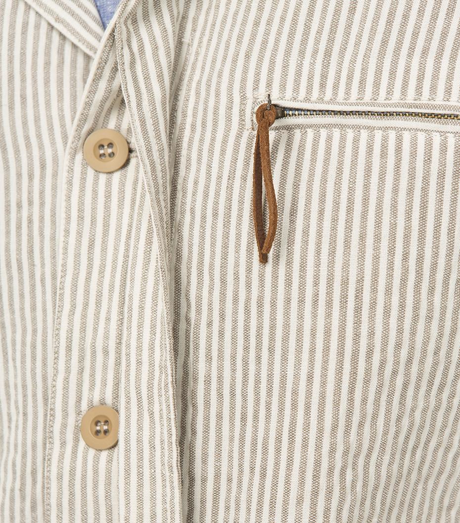 Jacket Military - White/camel stripes