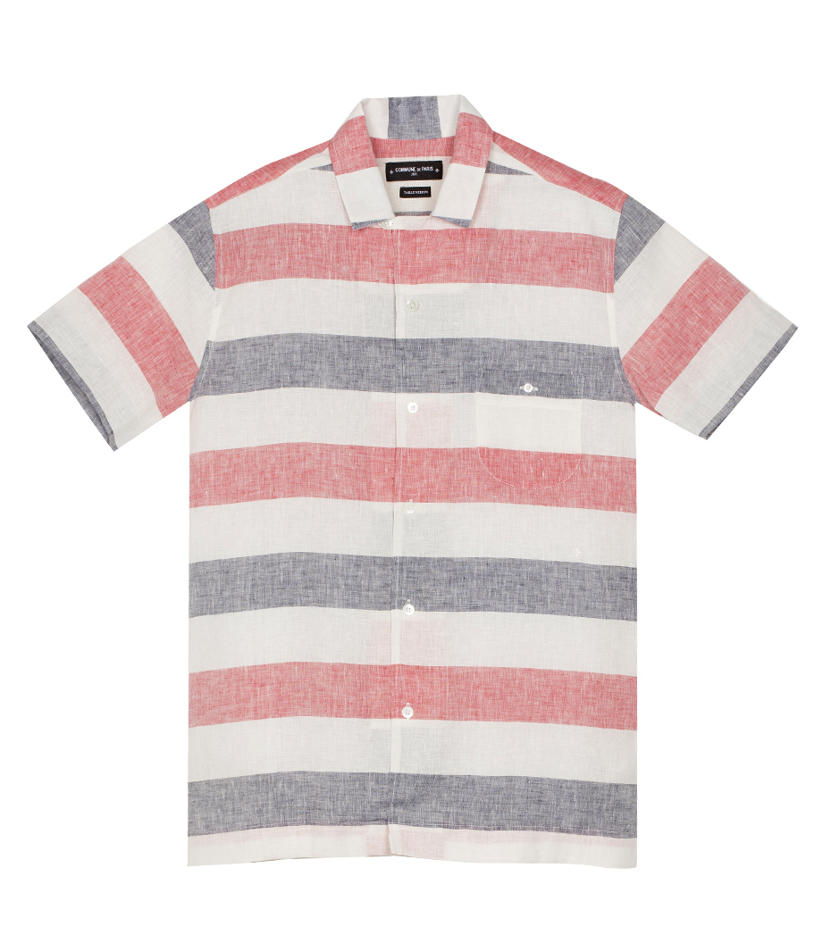 Shirt Hawai 02 - White stripes