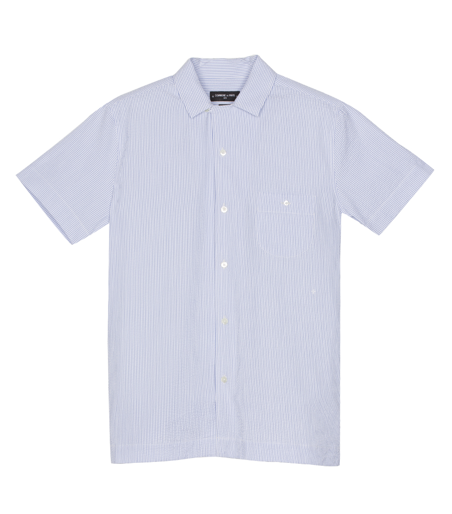 Shirt Hawai 03 - Blue stripes