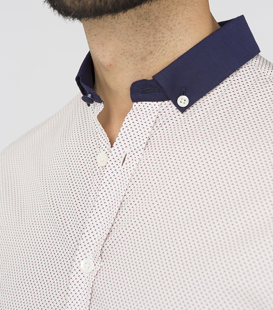 Shirt Menand - Blue/red pattern