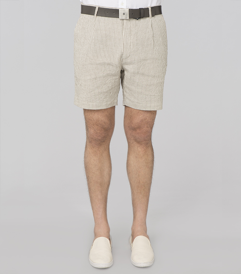 Shortpants SP5 - White/camel stripes