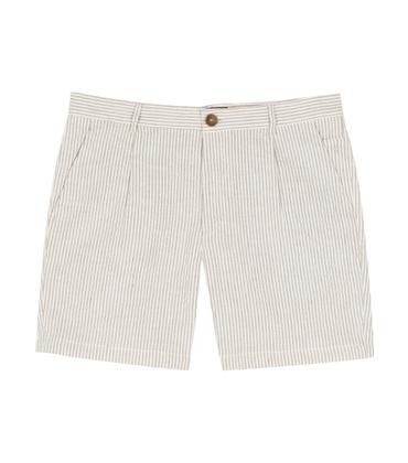 Short SP5 - Blanc/rayures camel