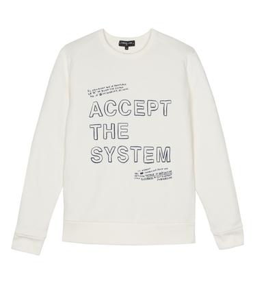 Sweatshirt Accept - écru