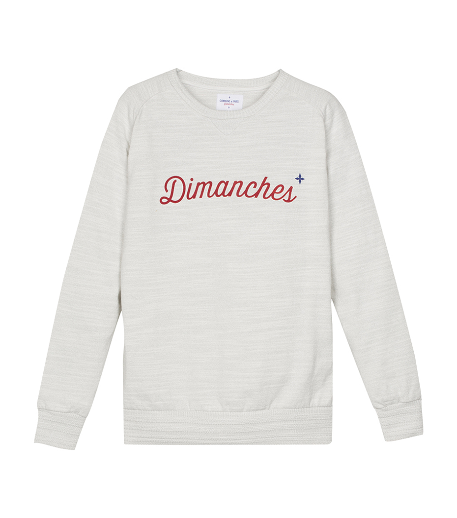 Sweat Dimanches - Marl light grey