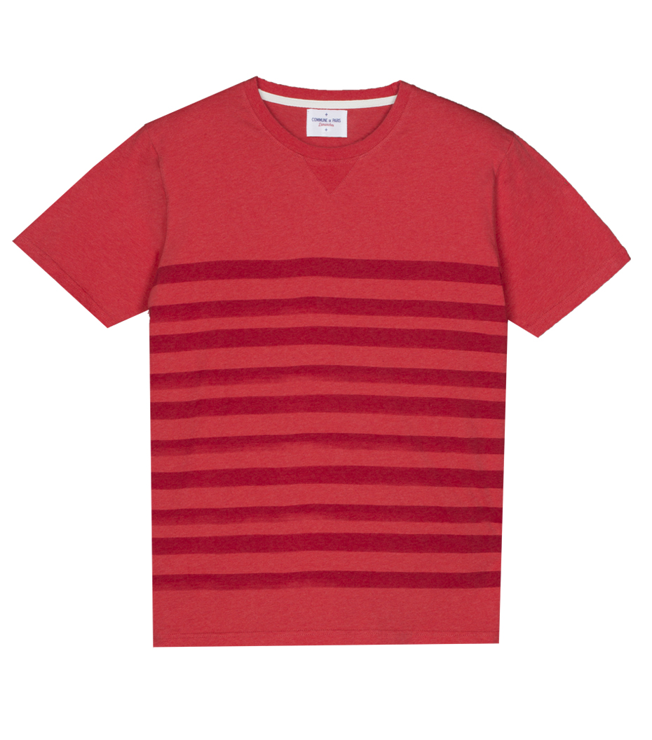 Tee-shirt Dimanches - Rouge chiné