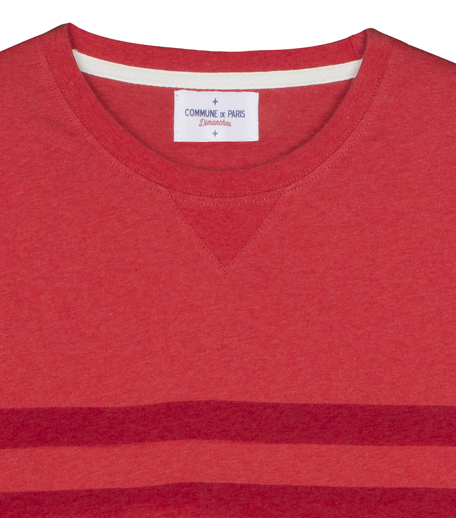 Tee Dimanches - Marl red