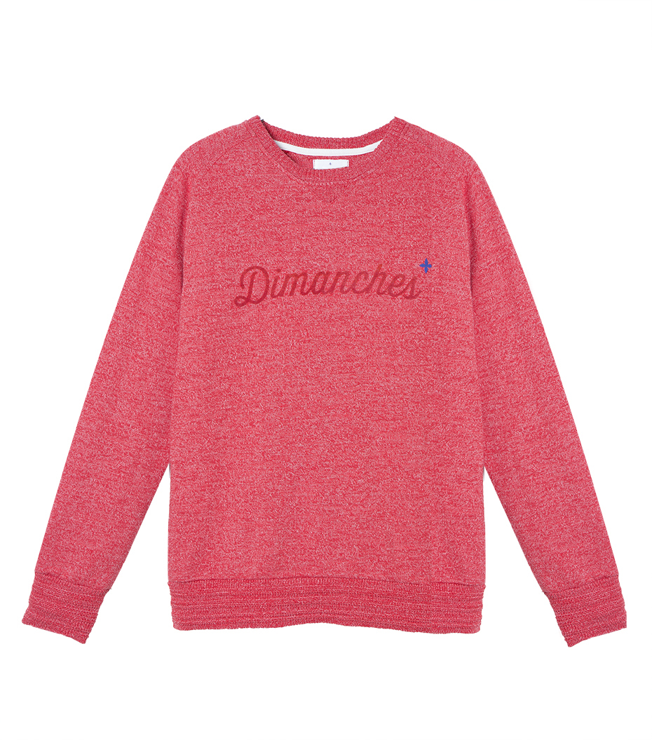 Sweat Dimanches - Marl red