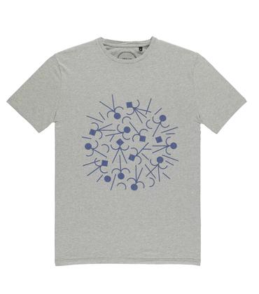 Tee-shirt Boom - Gris chiné