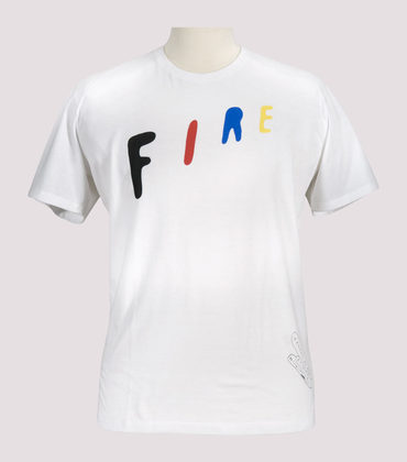 Tee-shirt Fire - White