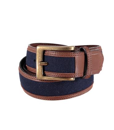 Belt  - Blue felt