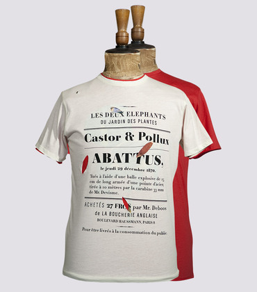 Tee-shirt Castor & Pollux - Offwhite / red