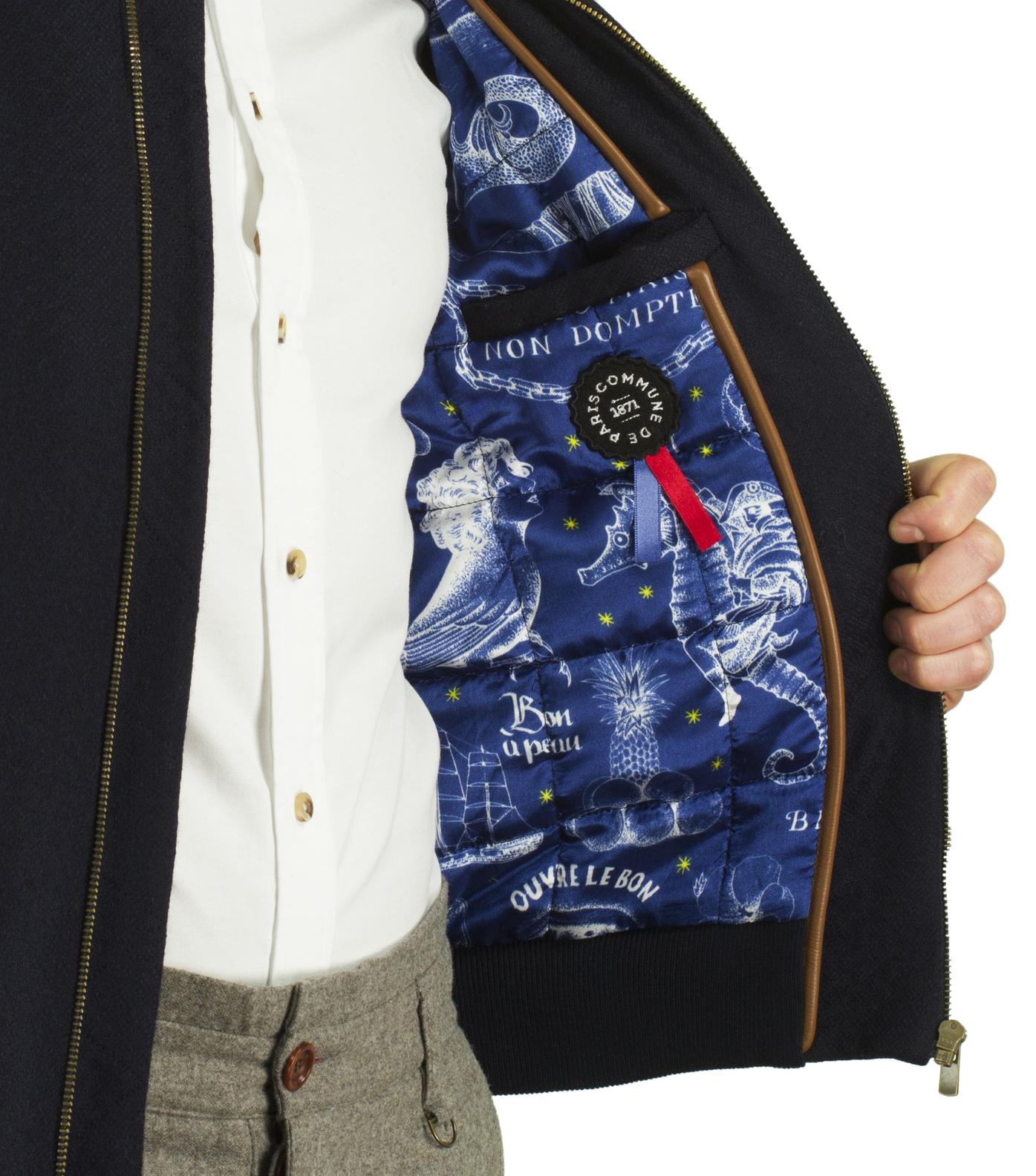 Jacket Anatole 02 - Jacquard navy