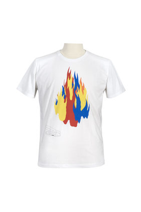 Tee-shirt Flame - White