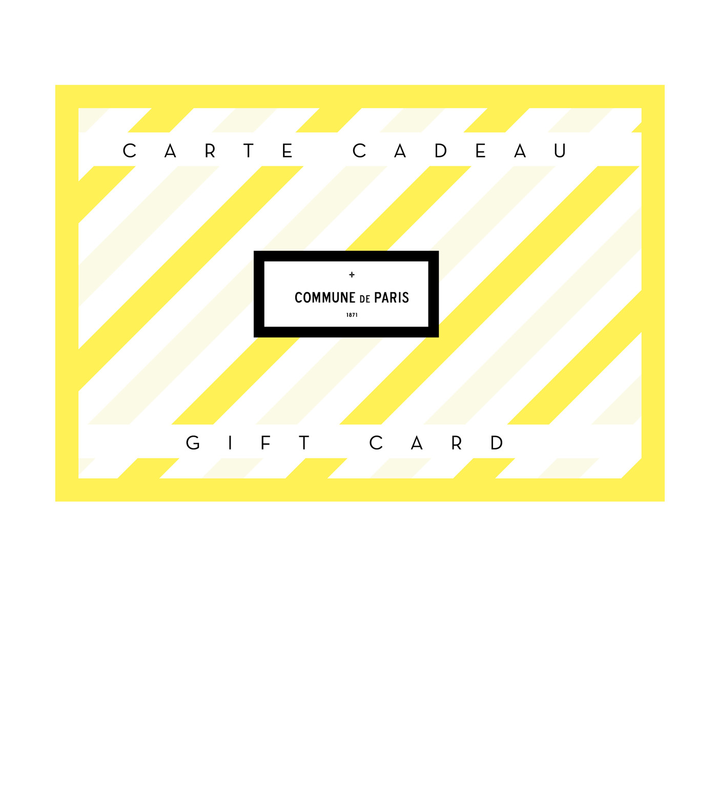 GIFT CARD - Yellow card 50€