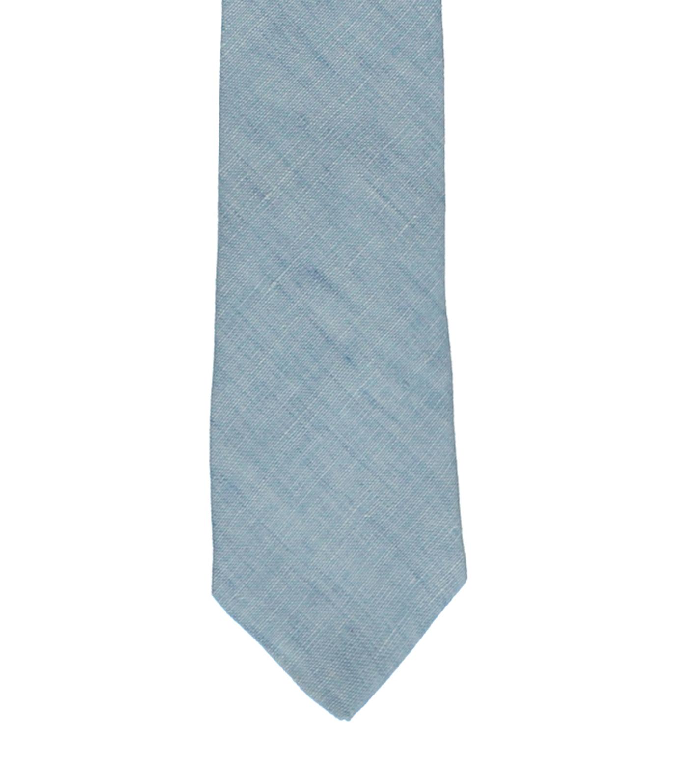Tie CDP - Light blue linen