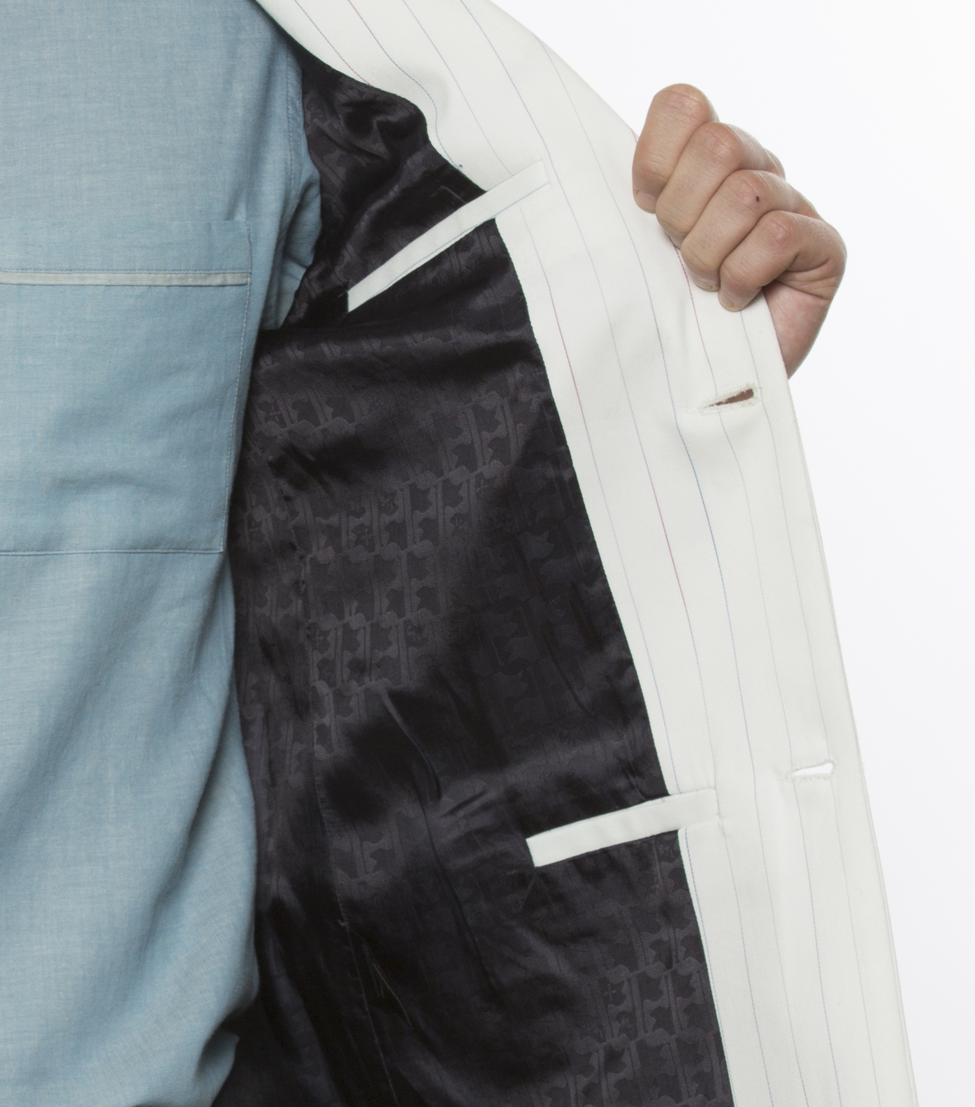 Suit Jacket Protot-S 02 - Large stripes print