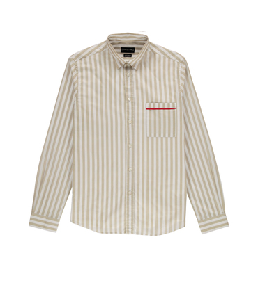 Shirt  Rossel-S 01 - Sand stripes