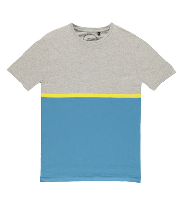 Tee Moitié - Grey/blue
