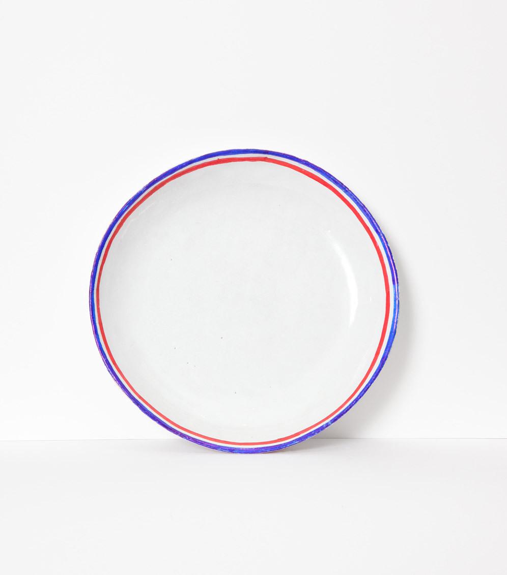 Soup plate Tricolores