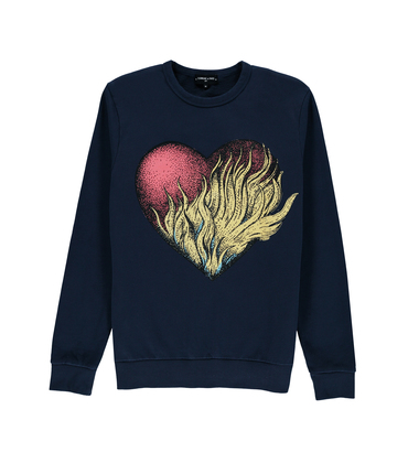 Sweatshirt Cœur - Navy