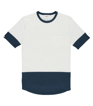 Tee-shirt Giant - Blanc/navy