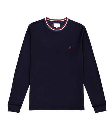 COL ROND ML DIMANCHES - Navy fonce