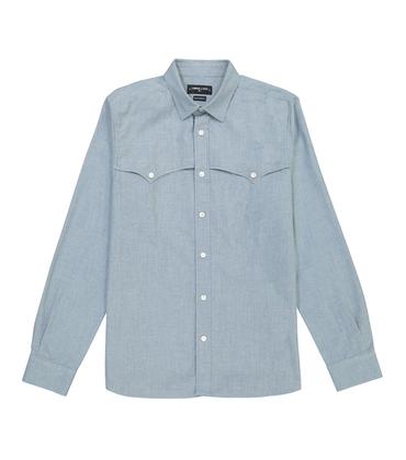 SHIRT WESTERN - Light blue