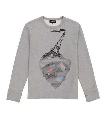 SWEAT TERRE - Marl grey