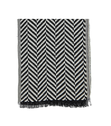 SCARF TRANI - Black / white