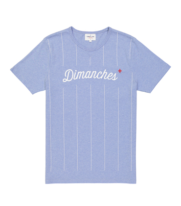 TEE DIMANCHES03 - Marl blue