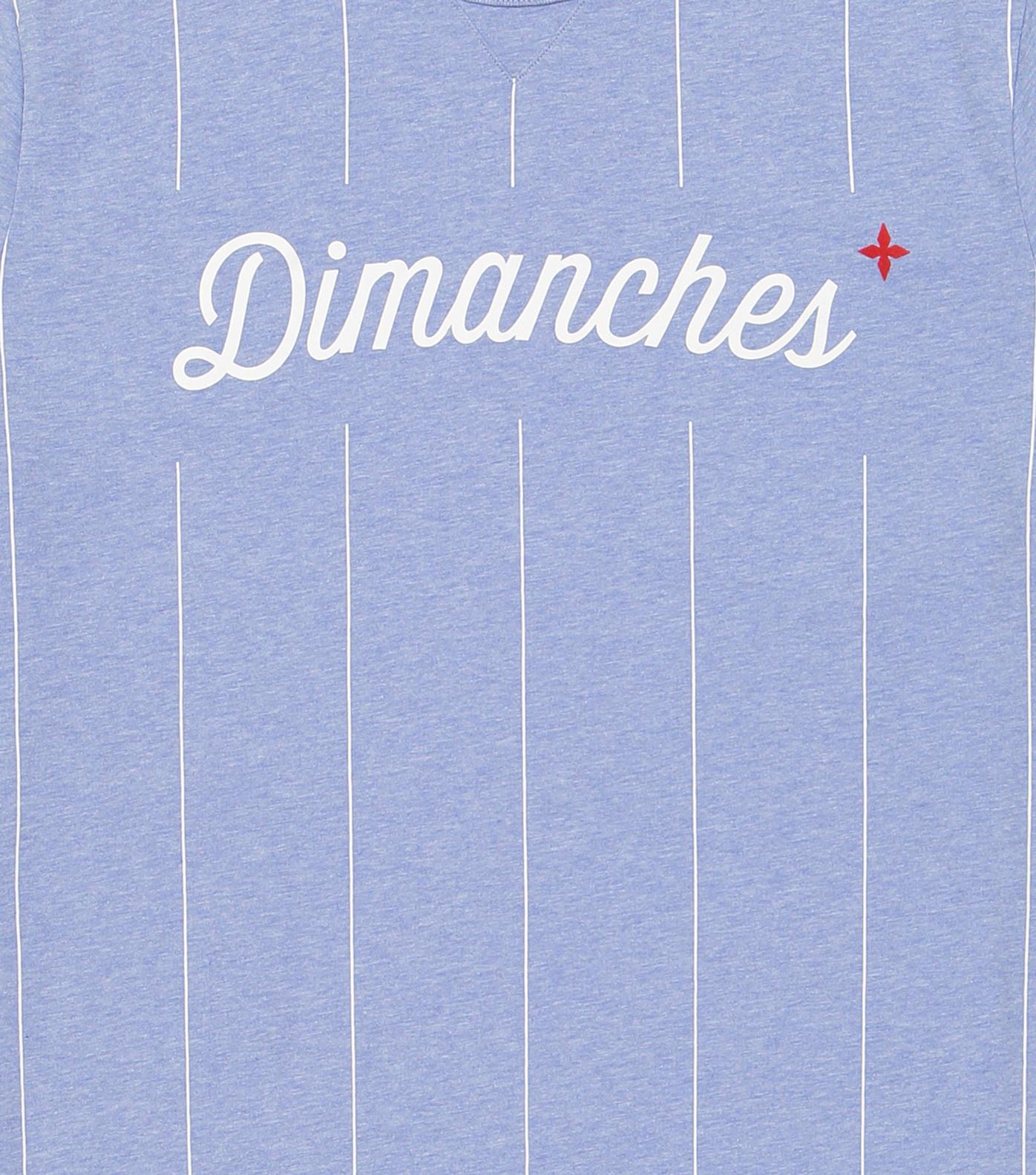 TEE DIMANCHES03 - Bleu chine