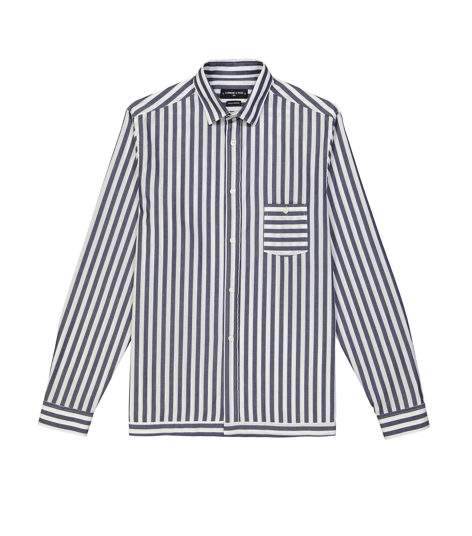 SHIRT TRINQUET - White/blue stripes