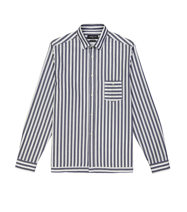 SHIRT TRINQUET - White/blue stripes
