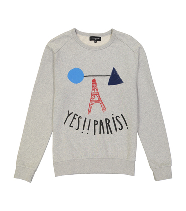 SWEAT  YES PARIS  - Marl grey