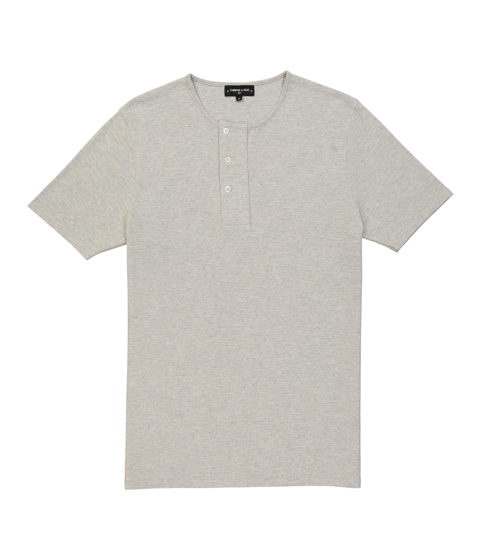 TEE PIQUET - Marl grey