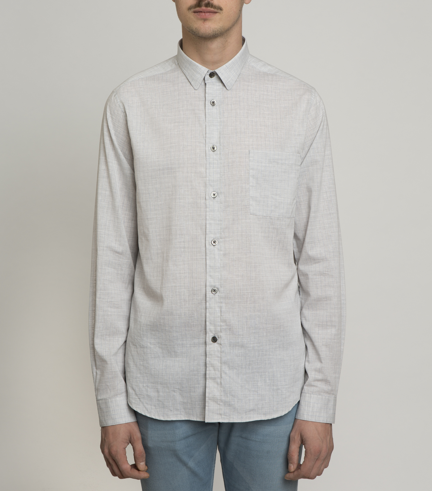 SHIRT ROSSEL-S - Grey checked