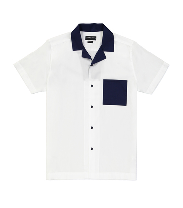 SHIRT HAWAI - White/navy