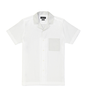 SHIRT HAWAI - White/grey