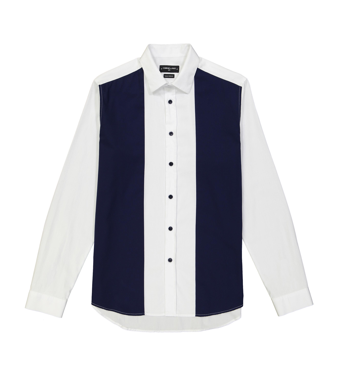 SHIRT AMAND  - White/navy
