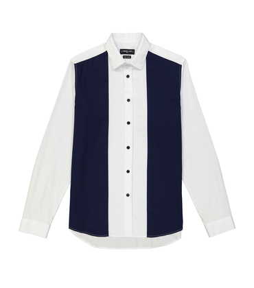 SHIRT AMAND  - White/navy