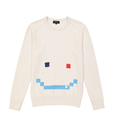 SWEAT  INVADER - Marl cream