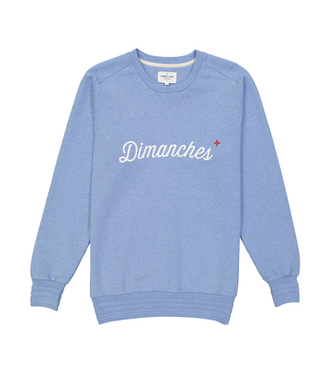 SWEAT DIMANCHES - Marl blue