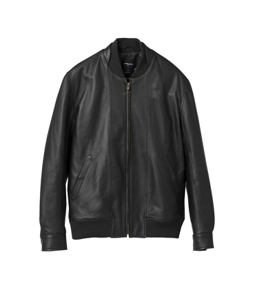 LEATHER JACKET ANATOLE-C  - Black
